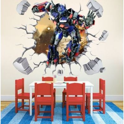 3d wall sticker transformers dimenzije 70x100cm